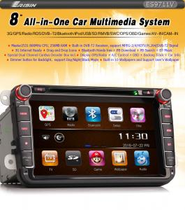 "8"" Bil Radio 2 Din DVD GPS with Canbus 3G TV Tuner for VW"