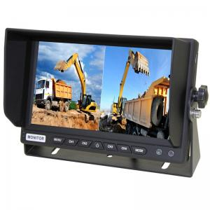 7 Inch car rear view quad monitor