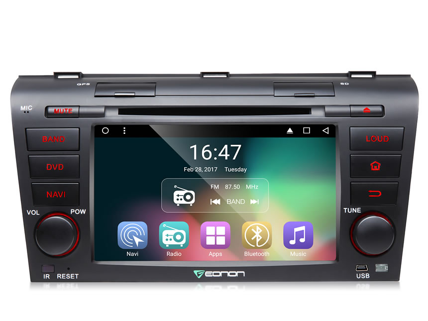 7-Inch Android 6.0 car navigation for MAZDA 3 Compatible with Bose