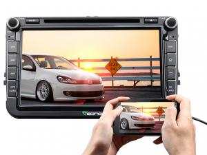 8-Inch Android 6.0 car navigation for Volkswagen support External DAB+ Box (V0054) without CD/DVD fu