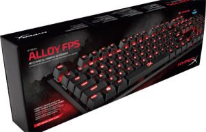 Kingston HyperX Alloy FPS, Mekaniskt gaming tangentbord, Cherry MX Blue, USB, 100% anti-ghosting, 1,