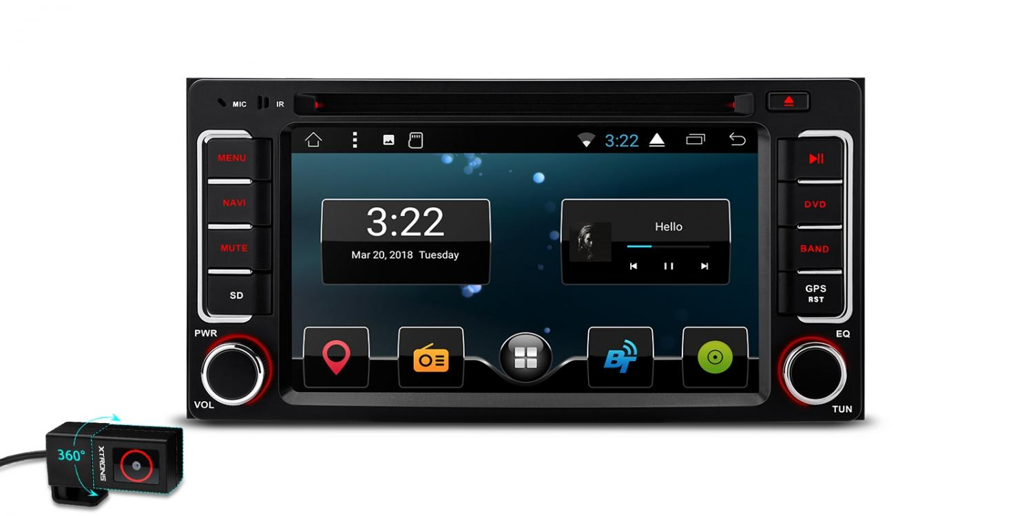 """6.2"""" Android 7.1 Nougat Quad-Core 16GB ROM HD Digital Multi Touch Screen Car DVD Player with Full RCA Output Custom Fit for Subaru"""
