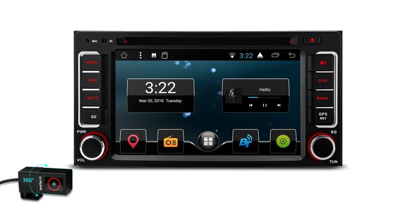 "6.2"" Android 7.1 Nougat Quad-Core 16GB ROM HD Digital Multi Touch Screen Car DVD Player with Full RCA Output Custom Fit for Subaru"