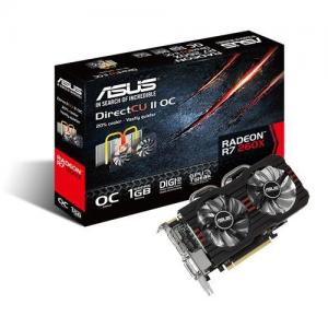 ASUS AMD R7 260X 1GB DDR5 2xDVI/HDMI/DisplayPort Direct CU II Fan