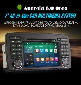"""7"""" Android 8.0 Car Radio DVD GPS System WiFi 4G for Mercedes Benz R-Class W251 R280 R320"""
