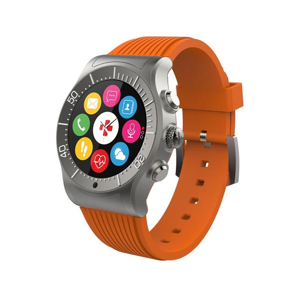 MyKronoz ZeSport HR Smartwatch /w Silicone band Titanium/Orange