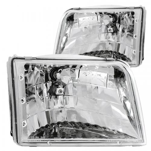 FORD Ranger 1993-1997 Crystal Headlights Chrome ANZO