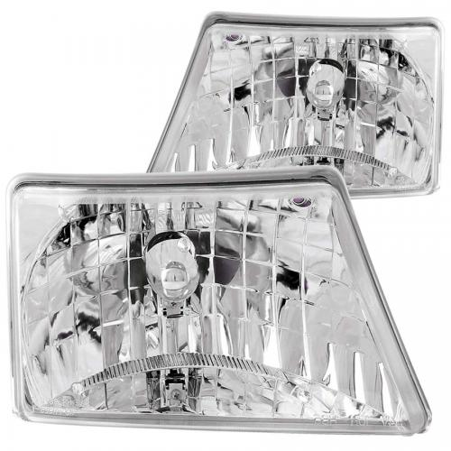 FORD Ranger 1998-2000 Crystal Headlights Chrome ANZO