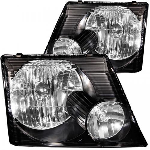 FORD Explorer 2002-2005 Crystal Headlights Black ANZO