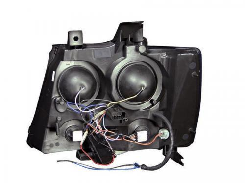 Chevrolet Avalanche 2007-2013 Projector Strålkastare Med Halo Svart (SMD LED) ANZO