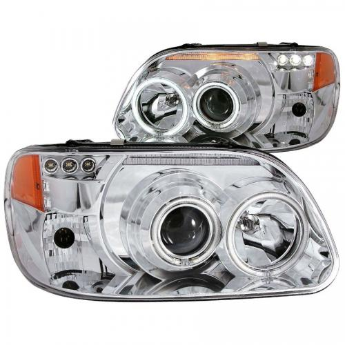 FORD Explorer 1995-2001 Projector Headlights w/ Halo Chrome 1 pc ANZO