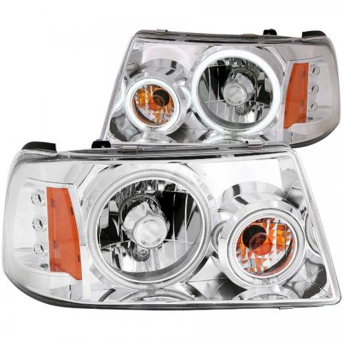 FORD Ranger 2001-2011 Crystal Headlights w/ Halo Chrome (SMD LED) 1 pc ANZO