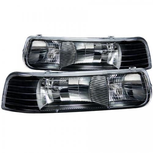 Chevrolet Suburban 2000-2006 (EJ GMC / NOT GMC) Crystal Headlights Black ANZO