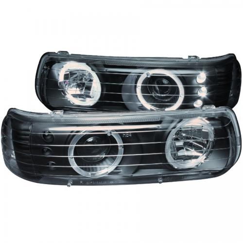 Chevrolet Suburban 2000-2006 (EJ GMC / NOT GMC) Projector Headlights w/ Halo Black ANZO