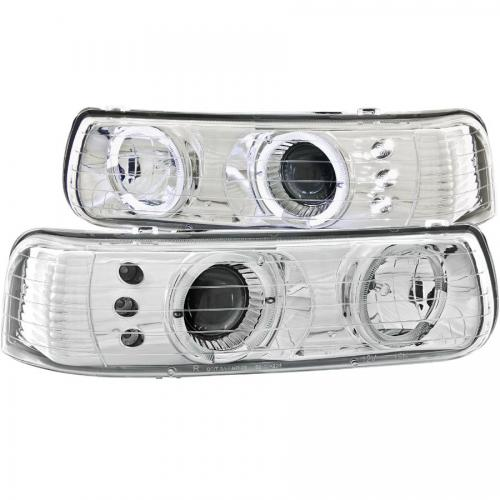 Chevrolet Suburban 2000-2006 (EJ GMC / NOT GMC) Projector Headlights w/ Halo Chrome ANZO