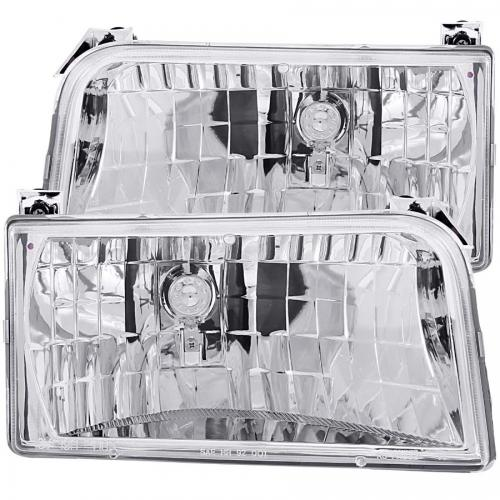 FORD F-250 1992-1996 Crystal Headlights Chrome ANZO