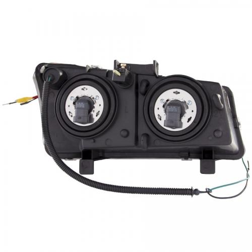 Chevrolet Avalanche 2003-2006 W/O BODY CLADDING Projector Headlights w/ U-Bar Chrome ANZO