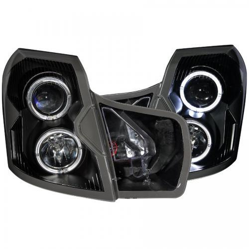 Cadillac CTS 2003-2007 Projector Headlights w/ Halo Black ANZO