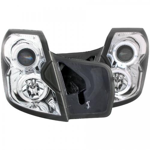 Cadillac CTS 2003-2007 Projector Headlights w/ Halo Chrome ANZO