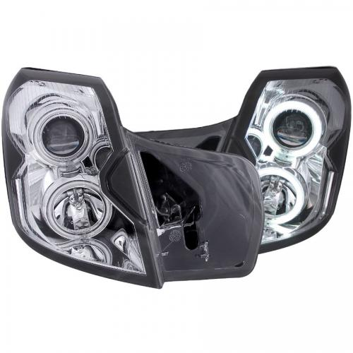 Cadillac CTS 2003-2007 Projector Headlights w/ Halo Chrome (SMD LED) ANZO