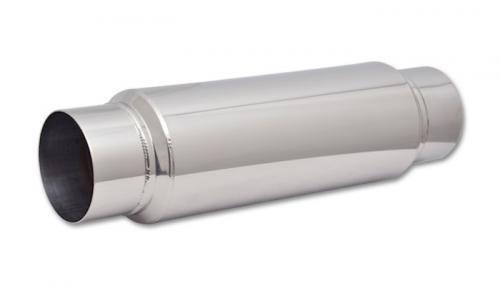 "US Stock Car Exhaust Muffler Resonator Tip Stainless Steel 2.5/""Inelt 2.5/""Outlet"