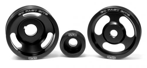 3-piece underdrive pulley kit (Crank, alternator & power steering pulleys & belts. Suits WRX/STi MY99-00, Forester GT MY01-02) GFB