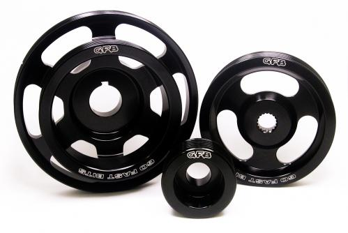 3-piece underdrive pulley kit (Crank, alternator & power steering pulleys & required belt. WRX/STi MY08-14, Forester XT MY09-12) GFB
