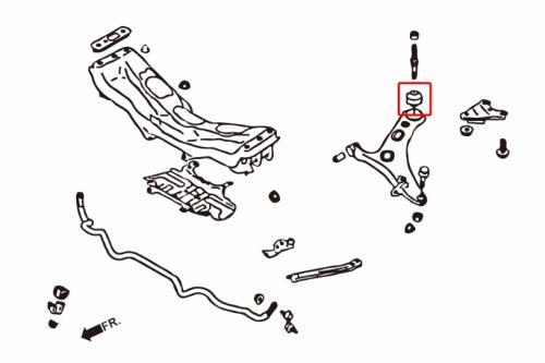 Impreza WRX/STI 07+ / Forester 09+ / Legacy 98-14 / BRZ / GT86 / Levorg 14+ / XV 12-17 Främre Nedre Stag Bussning - Stora (Pillowball) 2 Delar/Set