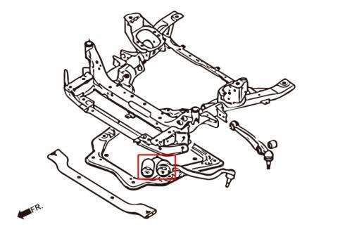 BMW X5 E70 / X6 E71 Främre Främre Nedre Stag Bussningar (Förstärkta Gummibussningar) 2 Delar/Set Hardrace