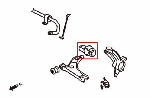 Audi / Seat / Skoda / VW Främre Länkarmsbussningar Bakre (Förstärkta Gummibussningar) 2 Delar/Set Hardrace