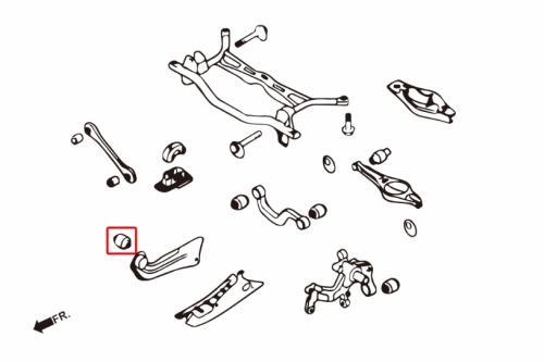 Audi / Seat / Skoda / VW Bakre Trailing-stagsbussning (Förstärkta Gummibussningar) 2 Delar/Set Hardrace