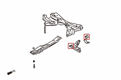 LANCER 93-00 / EVO 1-3 inkl GSR Främre Länkarmsbussningar (Förstärkta Gummibussningar) 4 Delar/Set Hardrace