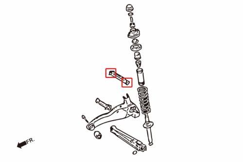 Lancer / EVO 1-3 Bussningar Bakre Övre Stag (Förstärkta Gummibussningar) 4 Delar/Set Hardrace