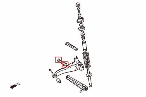 Lancer / EVO 1-3 Bakre Toe-stagsbussningar (Förstärkta Gummibussningar) 4 Delar/Set Hardrace