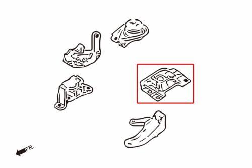 MAZDA3 10- BL3FW LEFT ENGINE MOUNT(HARDEN RUBBER) 1PCS/SET Hardrace