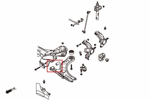 Audi / Skoda / VW Främre Länkarmsbussningar Främre (Förstärkta Gummibussningar) - 2 Delar/Set Hardrace