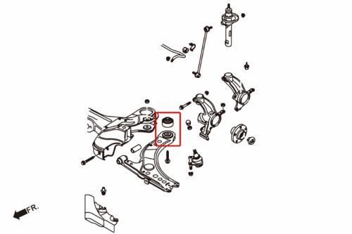 Audi / Skoda / VW Främre Länkarmsbussningar Bakre (Förstärkta Gummibussningar) - 2 Delar/Set Hardrace