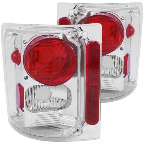 Chevrolet Suburban 1973-1991 Taillights Chrome ANZO