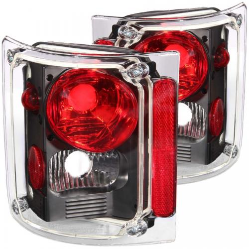 Chevrolet Suburban 1973-1991 Taillights Black ANZO