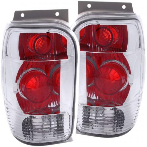 FORD Explorer 1998-2001 Taillights Chrome ANZO