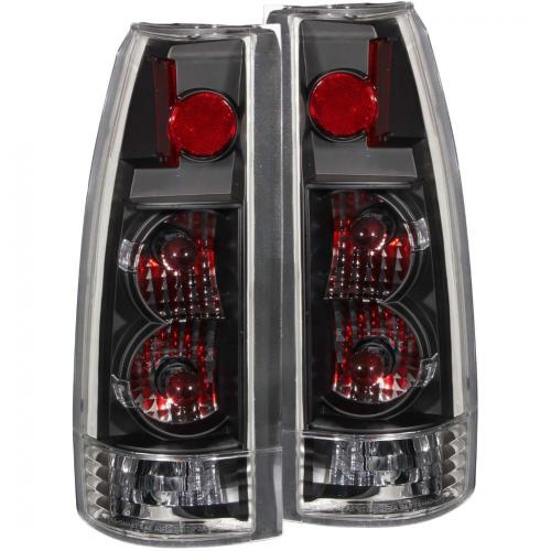 Chevrolet Suburban 1992-1999 Taillights Black - New Gen ANZO