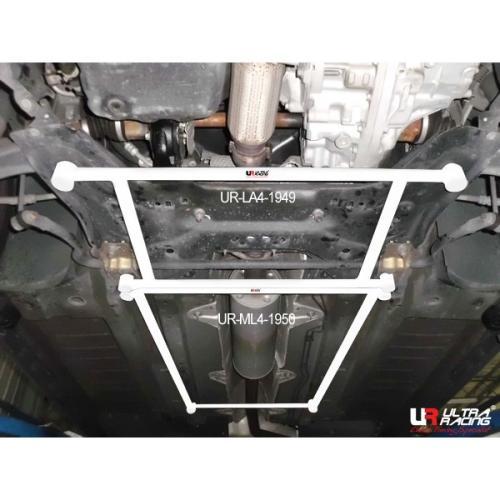 Peugeot 408 1.6T 10+ UltraRacing 4-Punkts Främre Nedre H-Stag