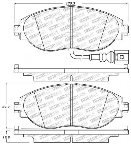 Audi / Seat / Skoda / Volkswagen Sport Brake Pads Front Stoptech