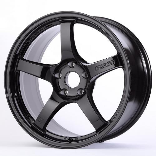 Gram Lights 57CR, 17X9.0, 12, 5x114.3, GLOSSY BLACK