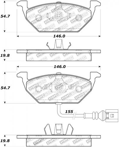 Audi / Seat / Skoda / Volkswagen Sport Bromsbelägg Fram Stoptech