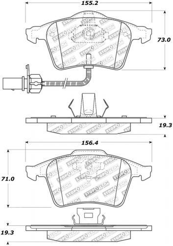 Audi / Seat Sport Bromsbelägg Fram Stoptech