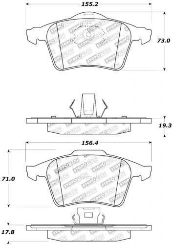 Ford / Mazda / Opel / SAAB / Volvo Sport Bromsbelägg Fram Stoptech