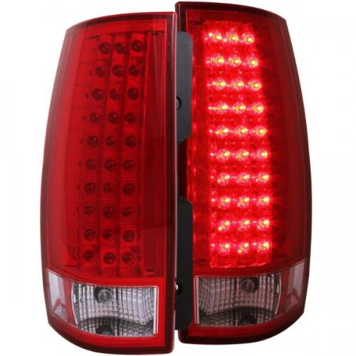 Chevrolet Suburban 2007-2014 LED Taillights Red/Clear ANZO