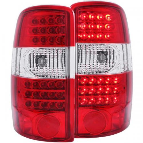 Chevrolet Suburban 2000-2006 LED Taillights Red/Clear G2 ANZO