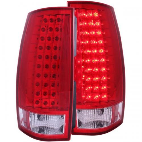 Chevrolet Suburban 2007-2014 LED Taillights Red/Clear G4 ANZO